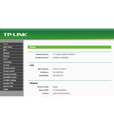 Daftar Download File bin 3G/4G modem untuk Router TP-Link TL-MR3020